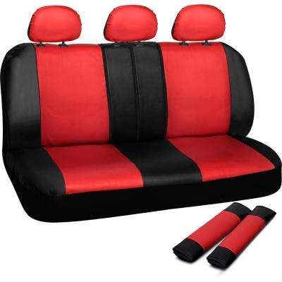 Polyurethane Bench Seat Cover in 21.5 in. L x  23 in. W x 31 in. H  Bench Seat Cover in Red and Black