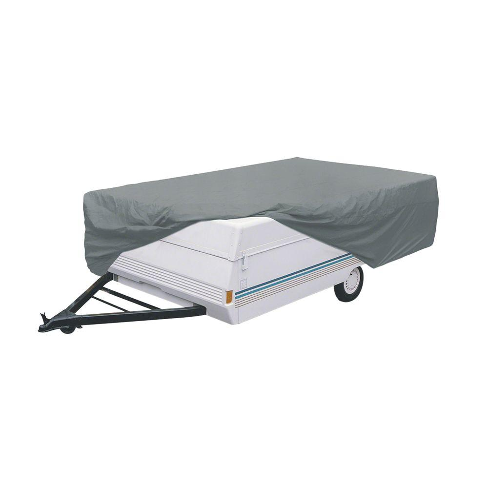 Clic Accessories Polypro 1 14 Ft To 16 Folding Camping Trailer Cover 74503 The Home Depot
