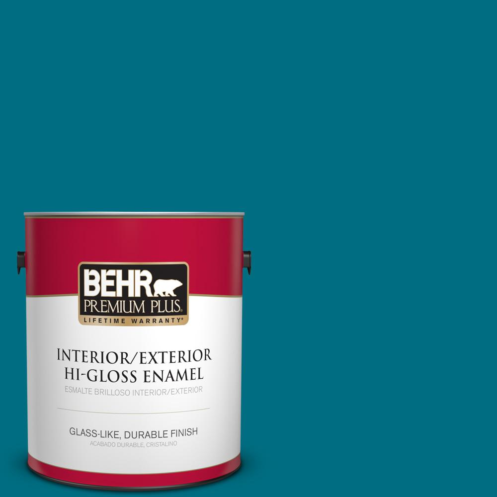 1 gal. #MQ4-54 Coastal Jetty Hi-Gloss Enamel Interior/Exterior Paint