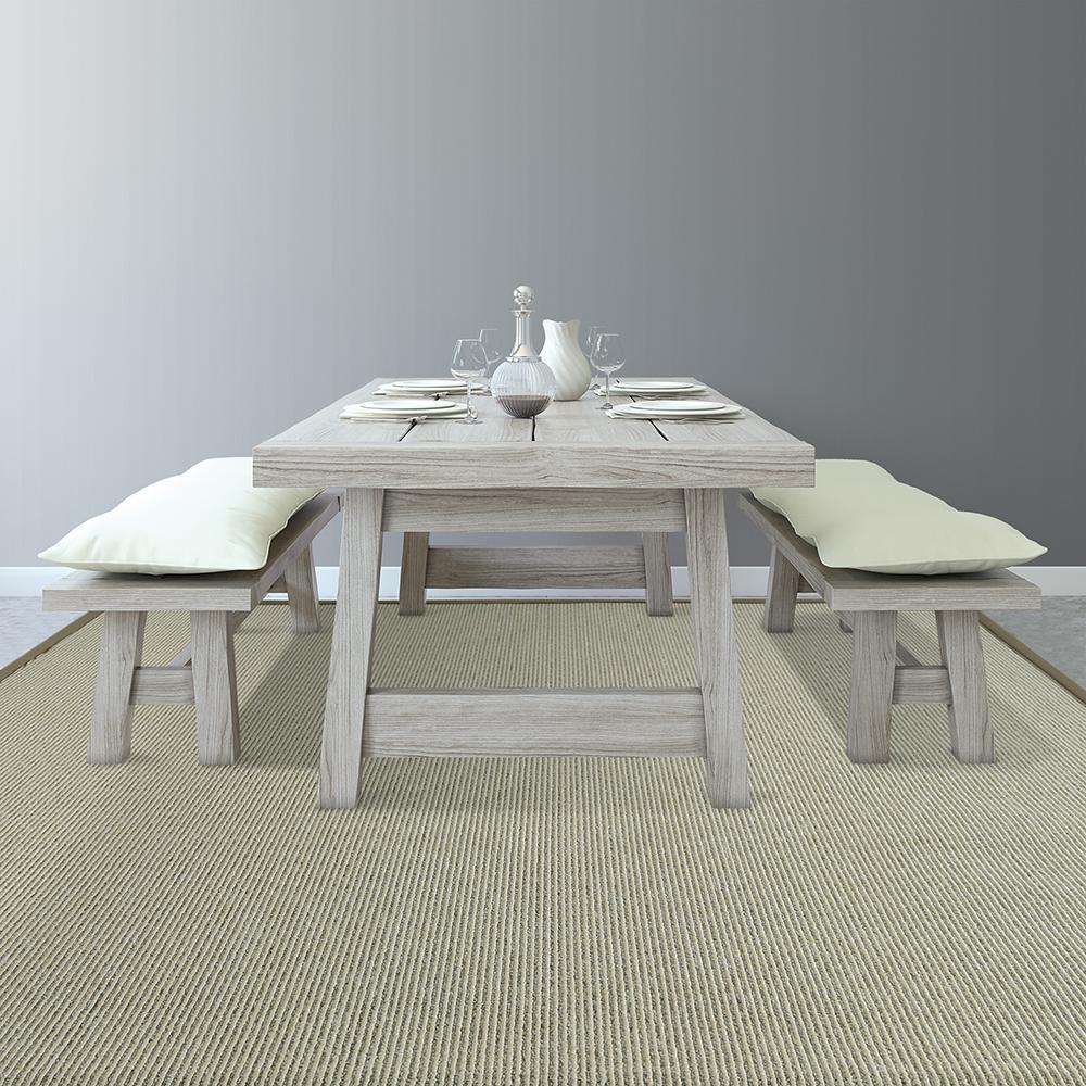 Sisal beige 8 ft x 10 ft area rug