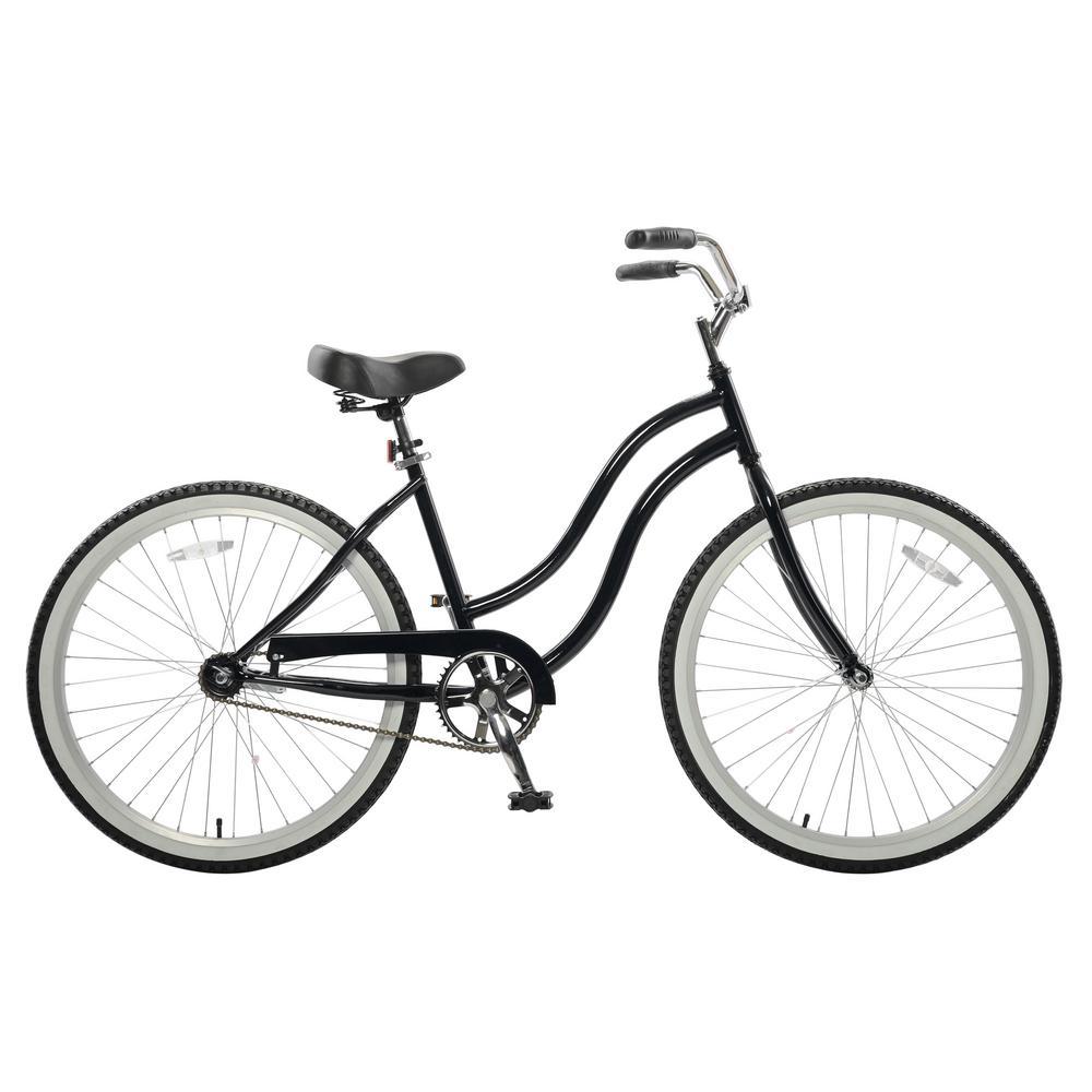 26 in. Wheels 18 in. Frame Women's Bike in Black