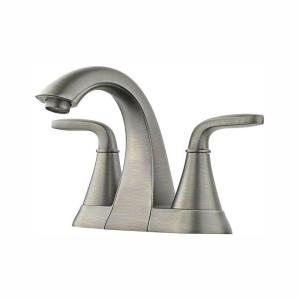 Pfister Pasadena 4 in. Centerset 2-Handle Bathroom Faucet in Slate