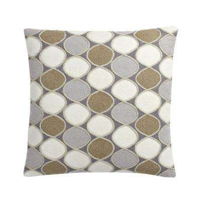 20 in. x 20 in. Neutral Ludlow Embroidered Pillow Cover