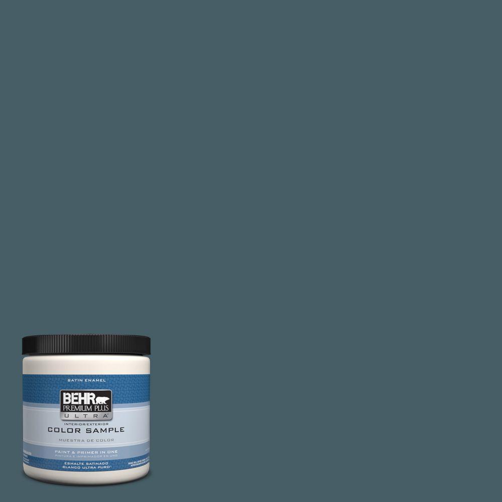Behr Premium Plus Ultra 8 Oz Ppu13 19 Observatory Interior Exterior Satin Enamel Paint Sample