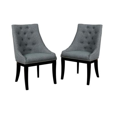 Odger Light Gray Wingback Chairs (Set of 2)