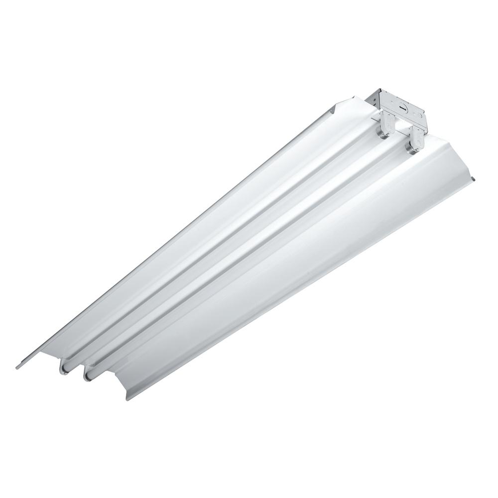 Iaf 4 ft white wire guard for industrial lighting fixtures