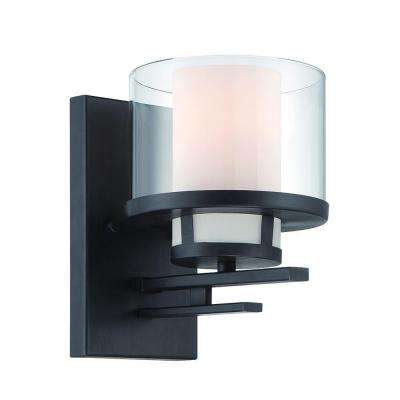 Fusion 1-Light Biscayne Bronze Interior Incandescent Bath Vanity Light