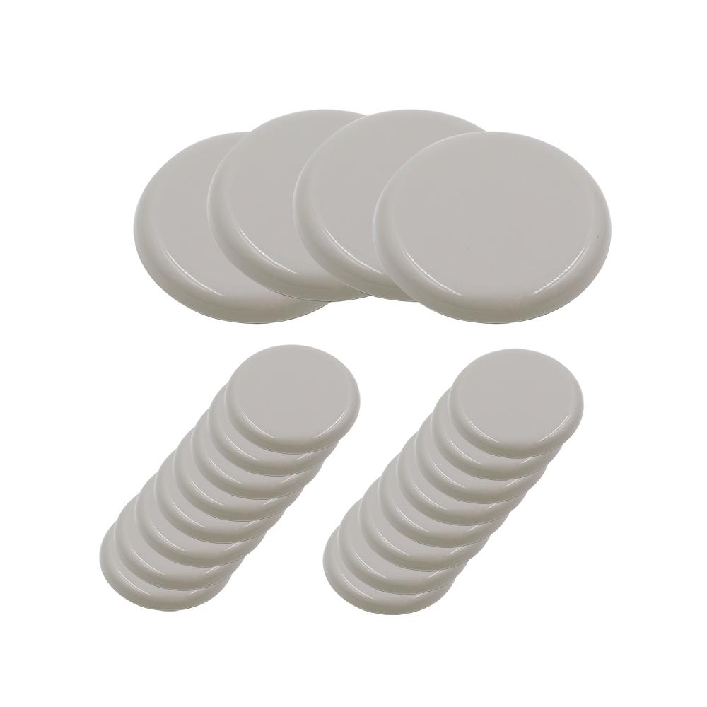 Adhesive Round Beige Plastic Sliders For Table And Chairs 20 Pack