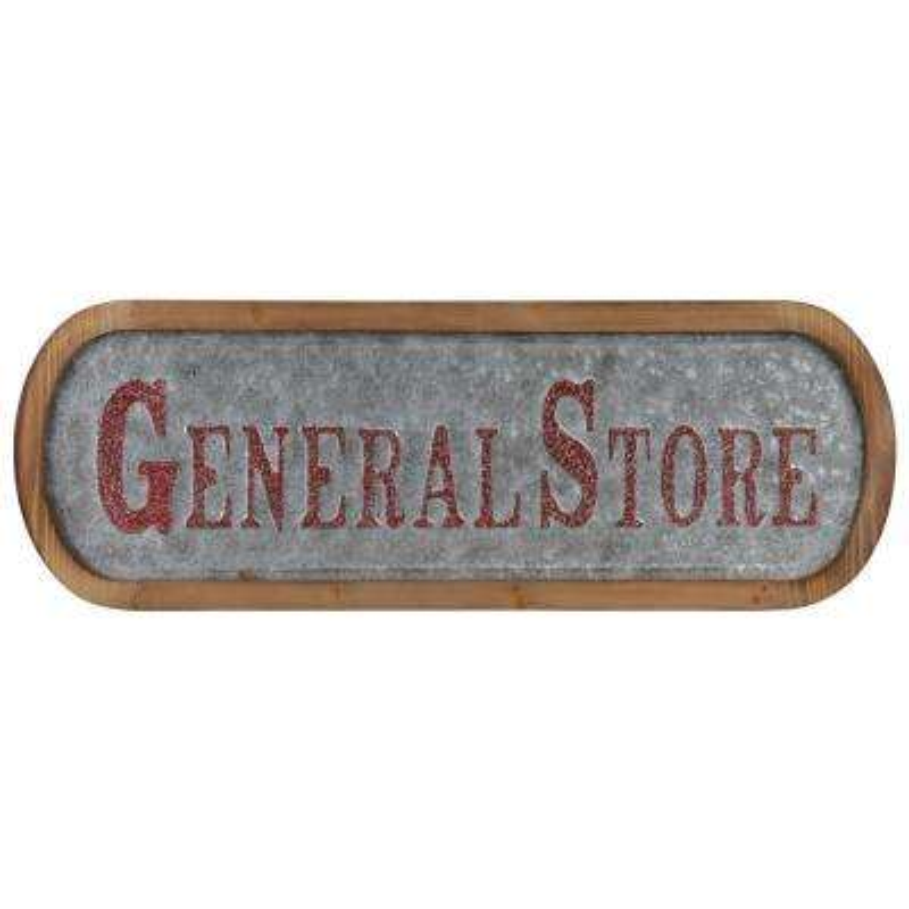 "12 in. x 36.50 in. ""General Store"" Printed Wall Art"