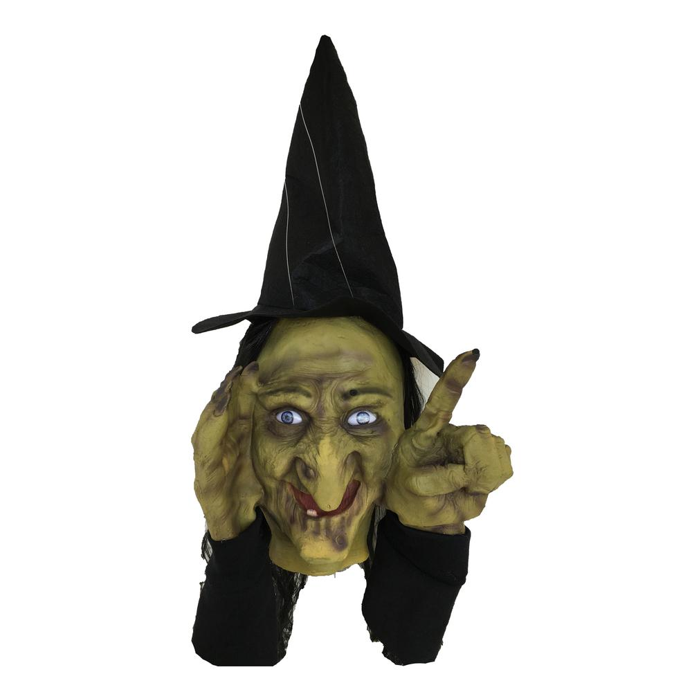 18 in. Animated Tapping Witch Peeper