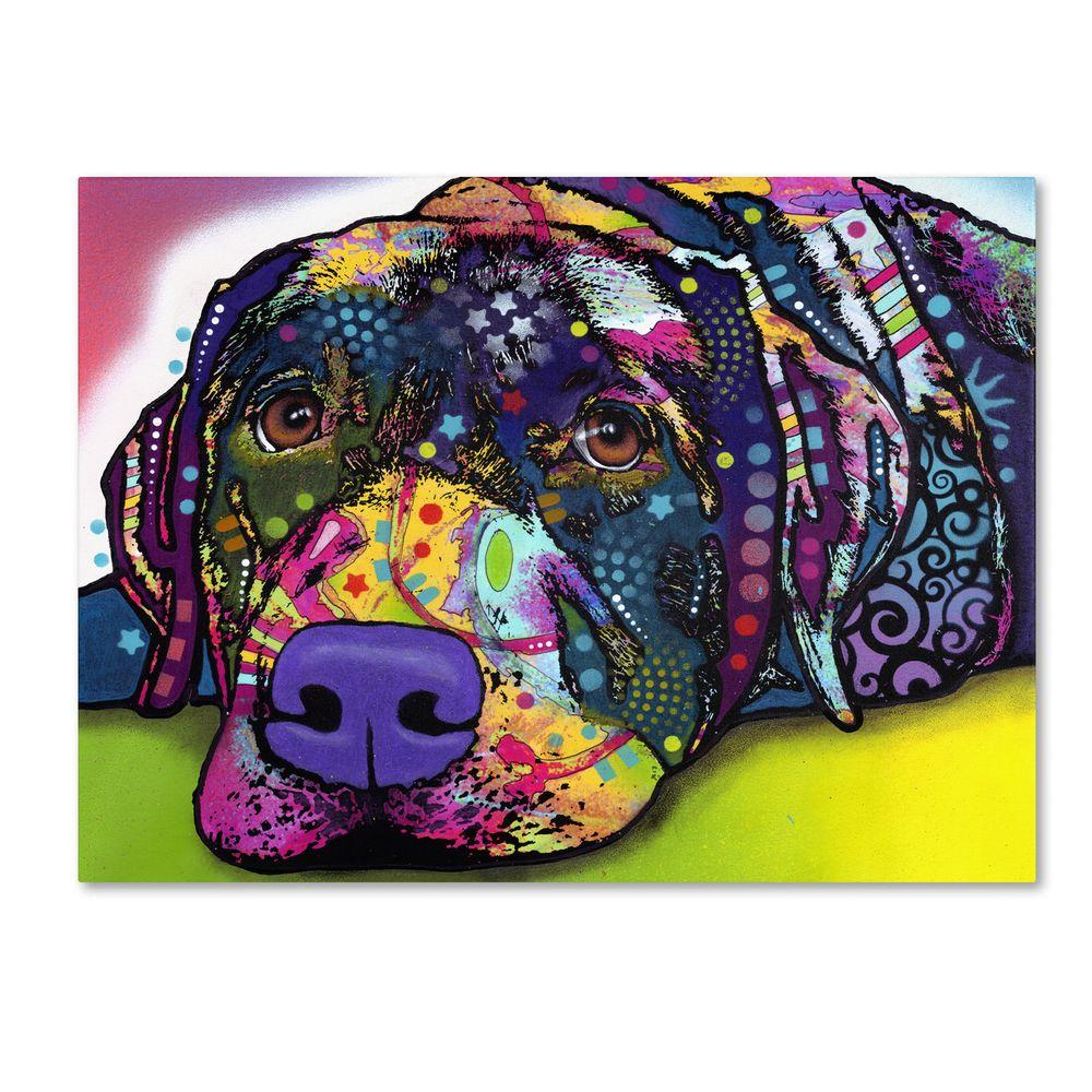 Trademark Fine Art 18 in. x 24 in. Savvy Labrador Canvas Art
