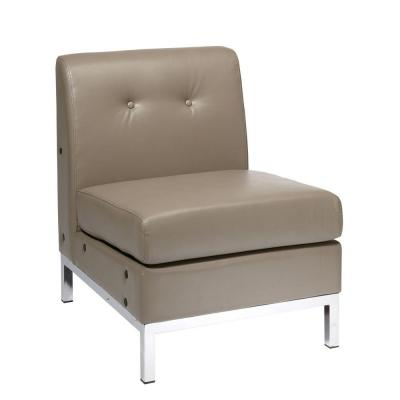 Wall Street Smoke Faux Leather Accent Chair
