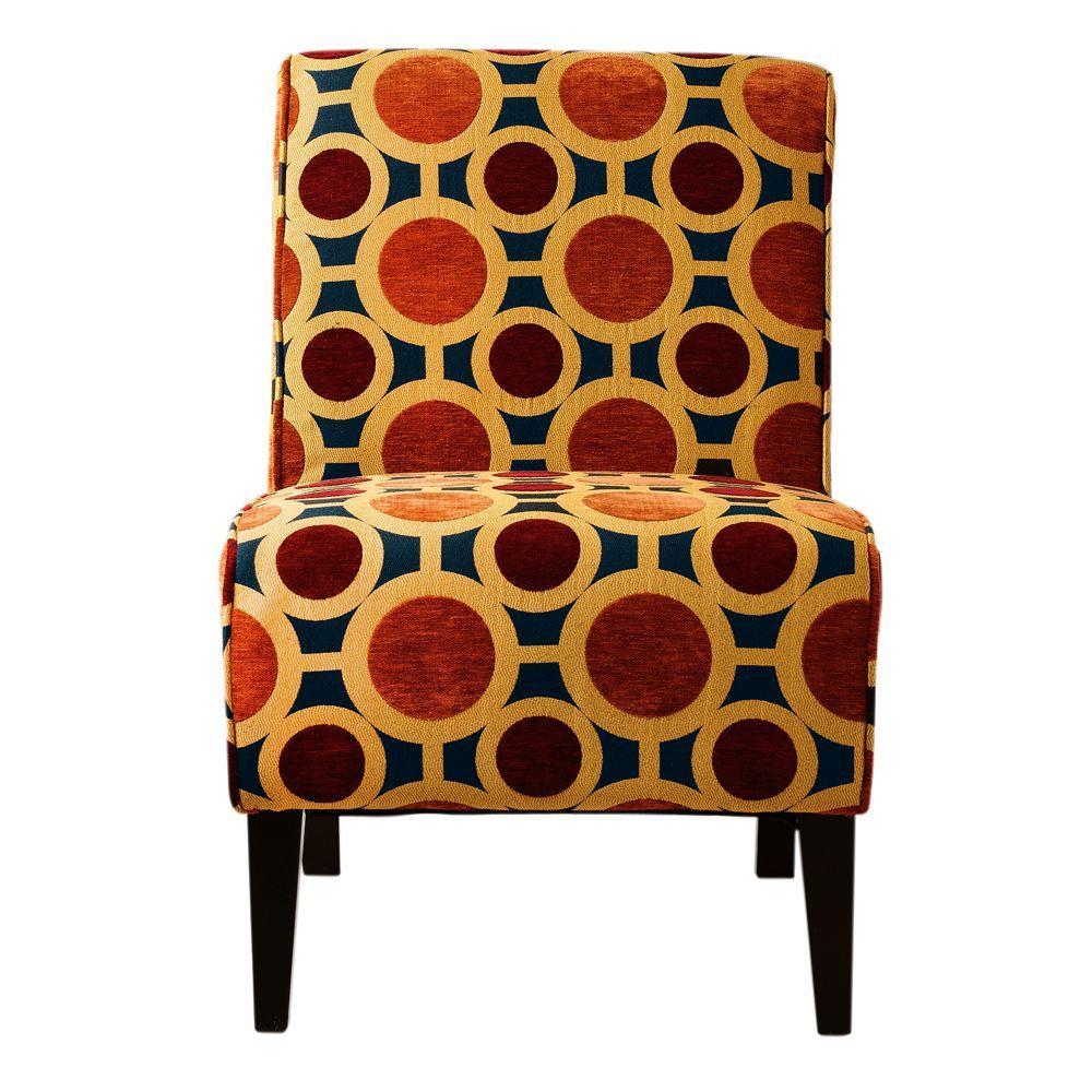 Home Decorators Collection Vincent Graffitti 22.5 in. W Slipper Chair