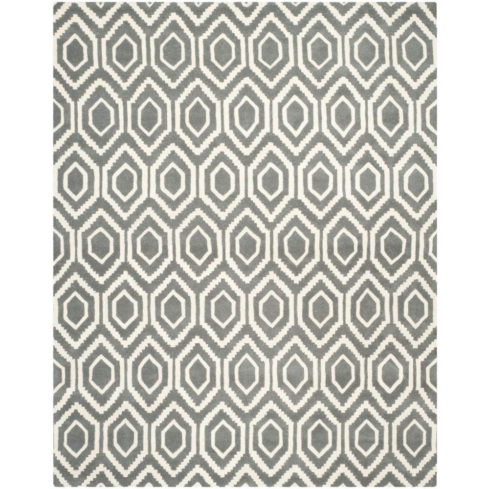 Chatham Dark Grey/Ivory 8 ft. x 10 ft. Area Rug