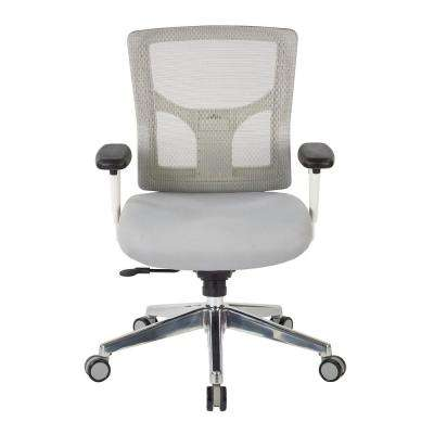 ProGrid White Mesh Mid Back Chair