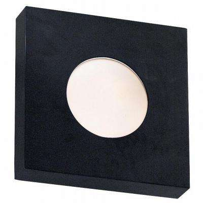 Burst 1-Light Black Large Square Sconce