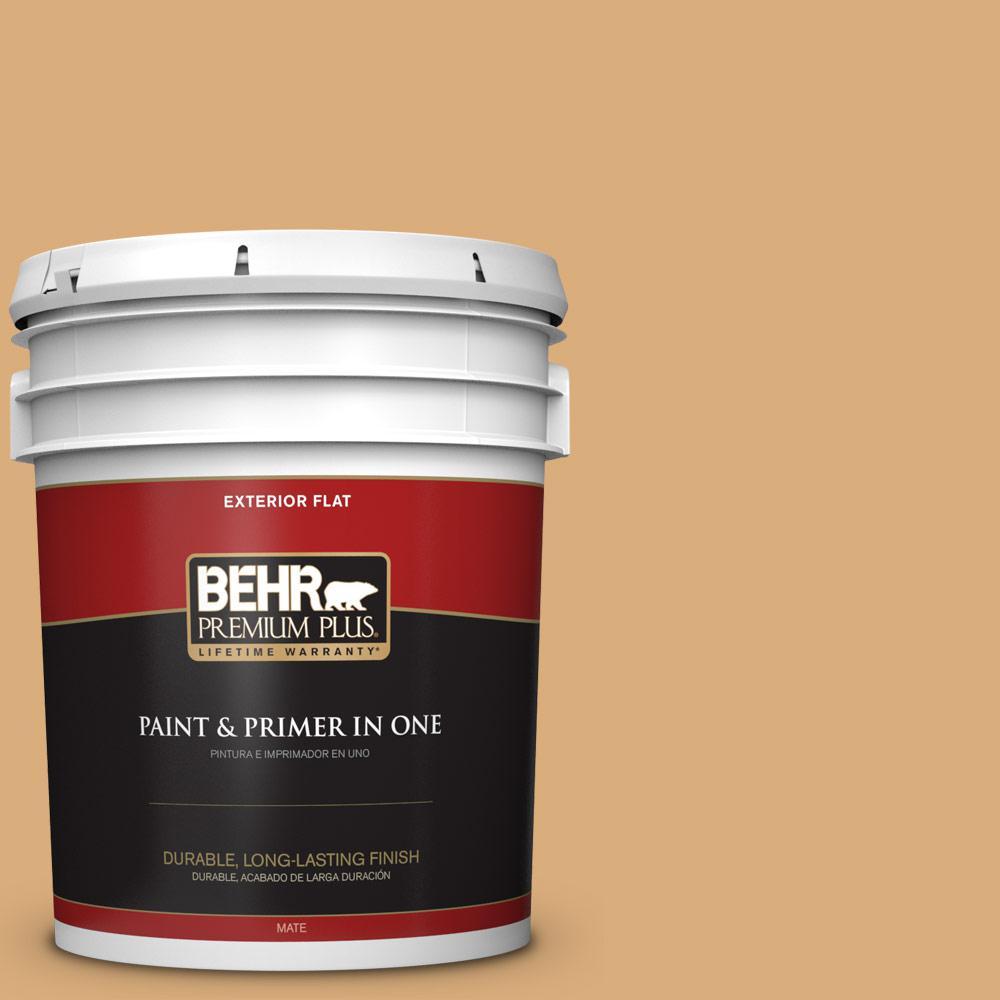 5 gal. #PPU6-05 Cork Flat Exterior Paint