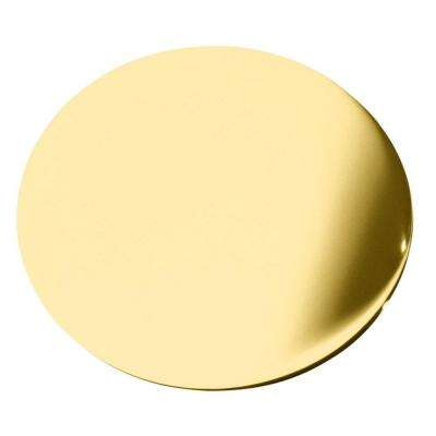 1-3/4 in. Round Sink Hole Cover in Vibrant Polished Brass