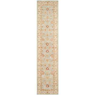 Antiquity Grey Blue/Beige 2 ft. x 12 ft. Runner Rug