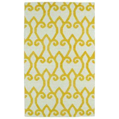 Glam Yellow 3 ft. 6 in. x 5 ft. 6 in. Area Rug