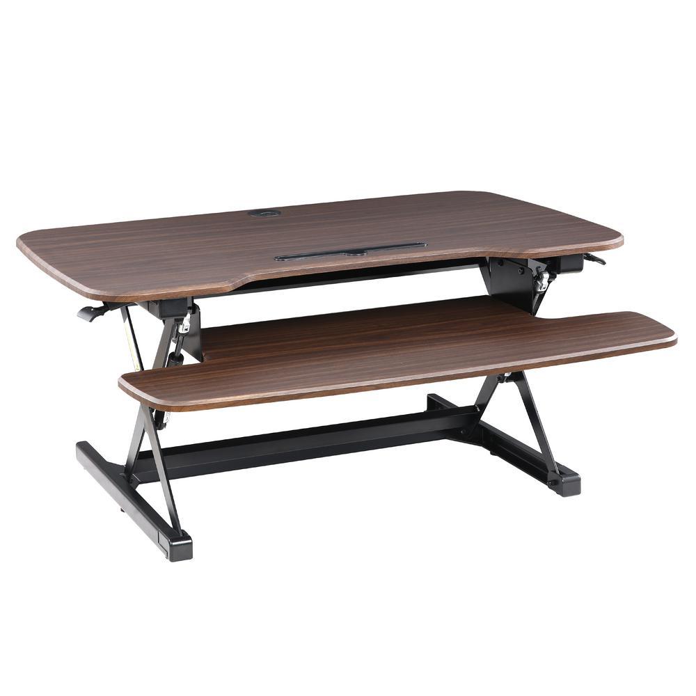 Crafron Walnut Sit-to-Stand Desk