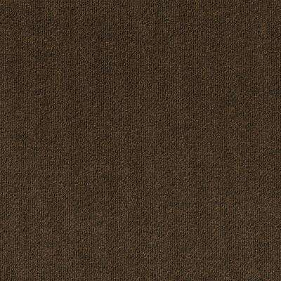 Inspirations Mocha Ribbed Texture 18 in. x 18 in. Carpet Tile (16 Tiles/36 sq. ft. /case)