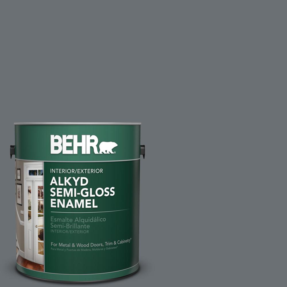 1 gal. #PPU18-3 Antique Tin Semi-Gloss Enamel Alkyd Interior/Exterior Paint