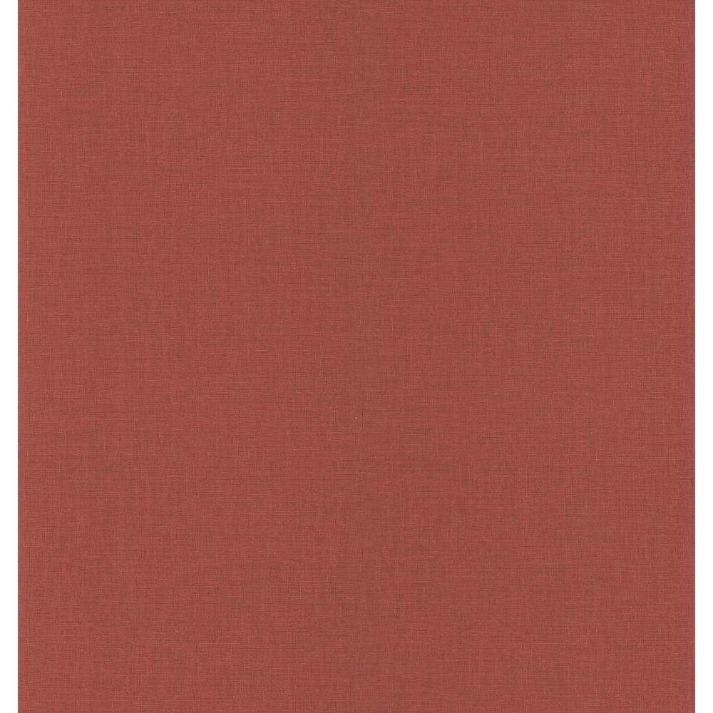 National Geographic Red Linen Texture Wallpaper Sample