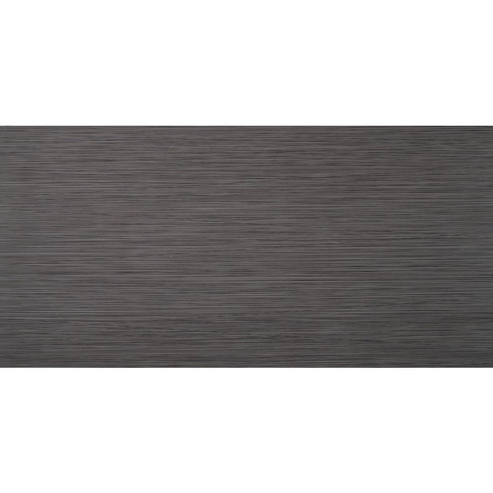 MSI Metro Charcoal 12 in  x 24 in  Glazed Porcelain Floor and Wall Tile (16  sq  ft  / case)