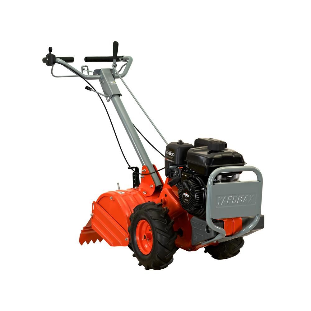 YARDMAX 18 in. 208cc Dual Rotating Rear Tine Tiller Briggs and Stratton