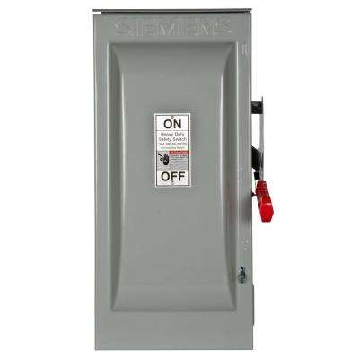 Heavy Duty 100 Amp 600-Volt 3-Pole Outdoor Non-Fusible Safety Switch