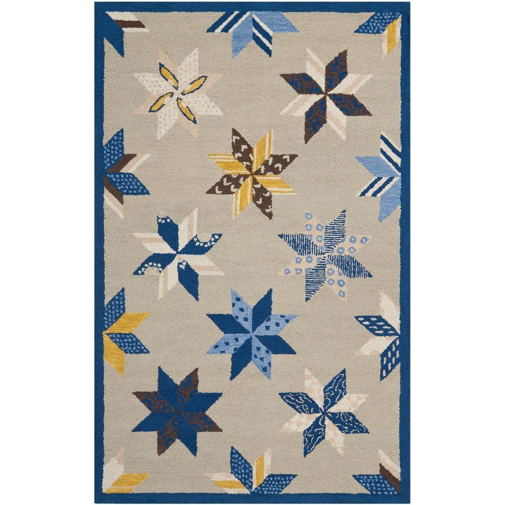 Martha Stewart Lemoyne Star Azurite Blue 5 ft. x 8 ft.