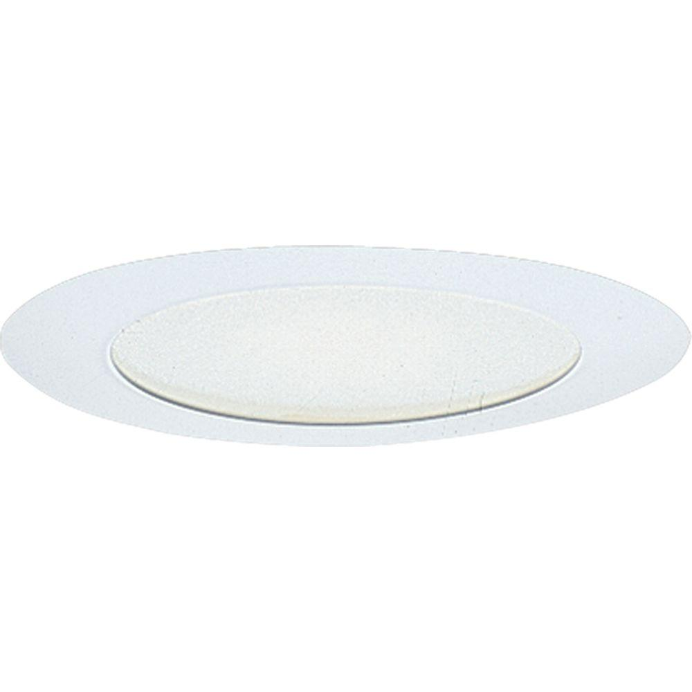 Progress Lighting 6 in. White Recessed Albalite Shower Trim Shower trim for use with Progress 6 in. recessed lighting housings. Albalite diffuser. Wet location listed.