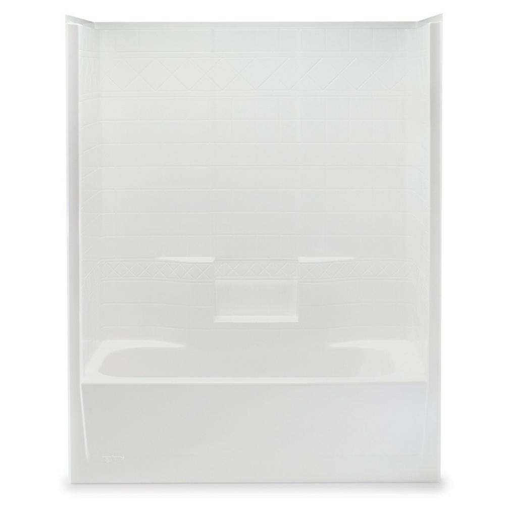Everyday 60 in. x 32 in. x 76 in. 1-Piece Bath