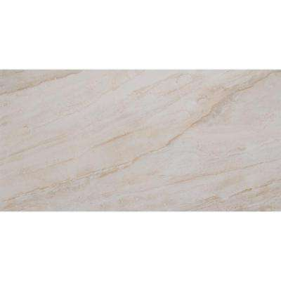 Vigo Beige 12 in. x 24 in. Glazed Ceramic Floor and Wall Tile (16 sq. ft. / case)