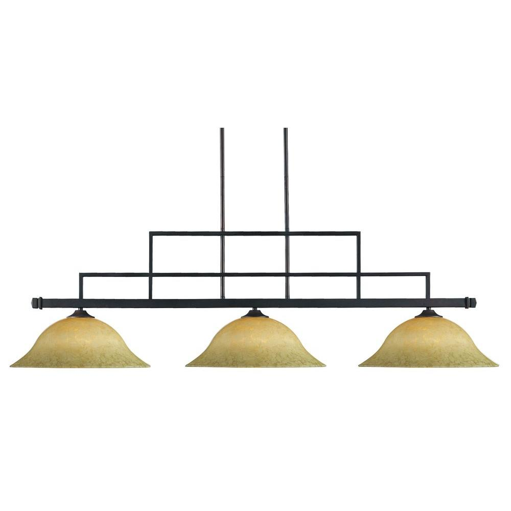 Tulen Lawrence 3 Light Ceiling Bronze Incandescent Island Pendant-DISCONTINUED