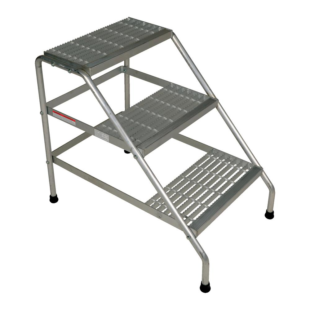 Vestil 3 Step Aluminum Knock Down Step Stand Ssa 3 Kd