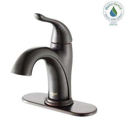 Arcus Single Hole Single-Handle Bathroom Faucet in Oil Rubbed Bronze