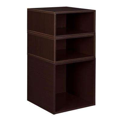 Cubo 13 in. x 26 in. Truffle 2 Half-Cubes and 1 Full-Cube Organizer