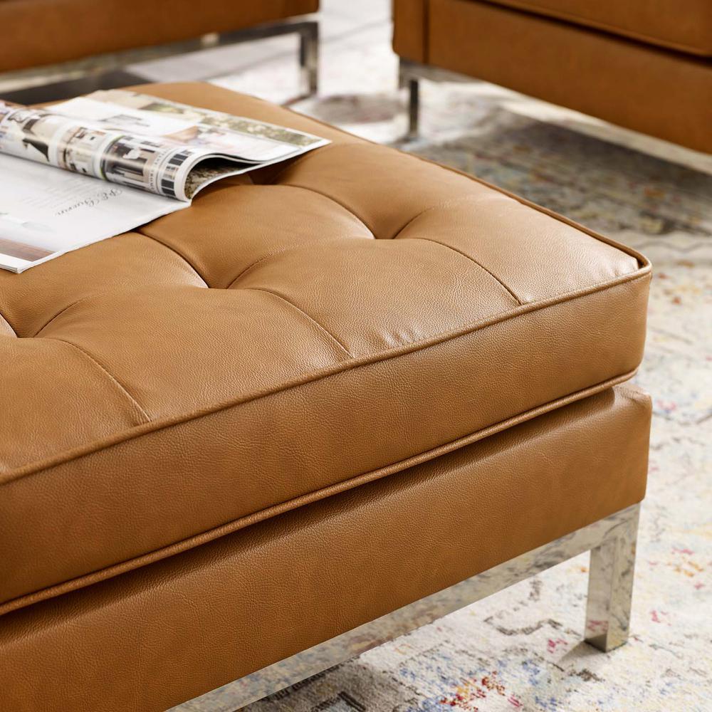 Magnificent Modway Loft Tufted Silver Tan Upholstered Faux Leather Inzonedesignstudio Interior Chair Design Inzonedesignstudiocom