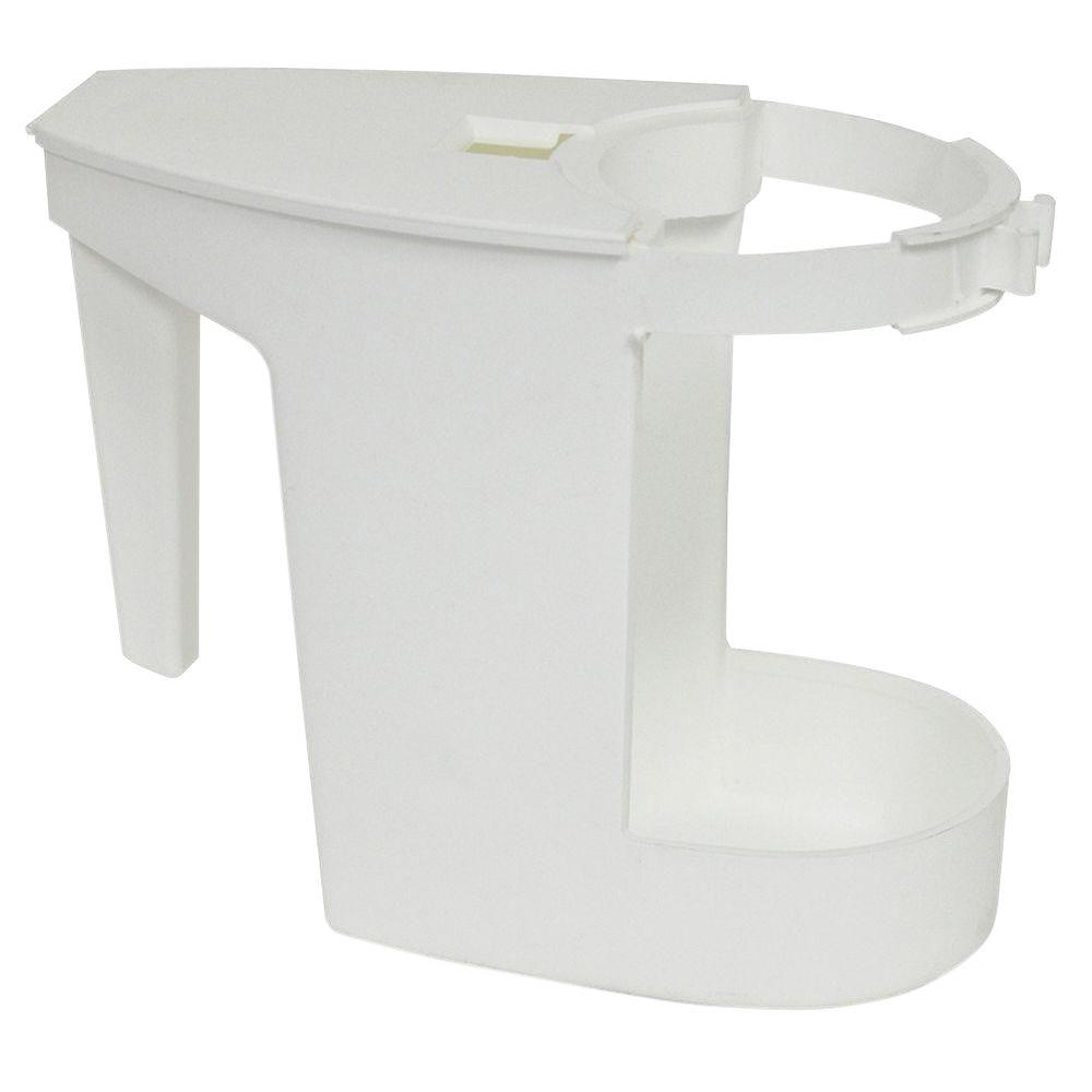 White Toilet Bowl Mop Caddy