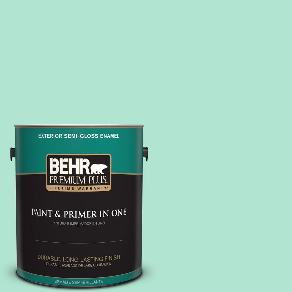 1-gal. #P420-2 Crystal Rapids Semi-Gloss Enamel Exterior Paint