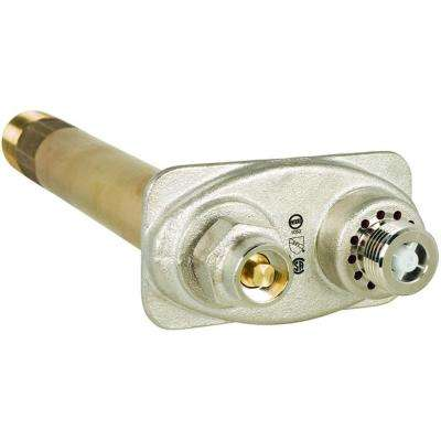 14 in. Brass Heavy Commercial Self-Draining Anti-Siphon Freezeless Hydrant with 1 in. MPT and 3/4 in. FPT