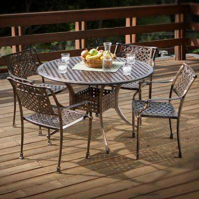 Sebastian Copper 5-Piece Aluminum Outdoor Dining Set