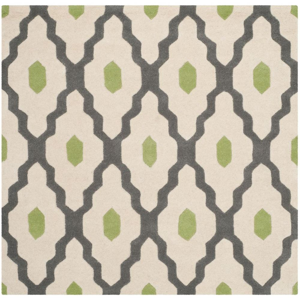 Chatham Dark Gray/Ivory 5 ft. x 5 ft. Square Area Rug