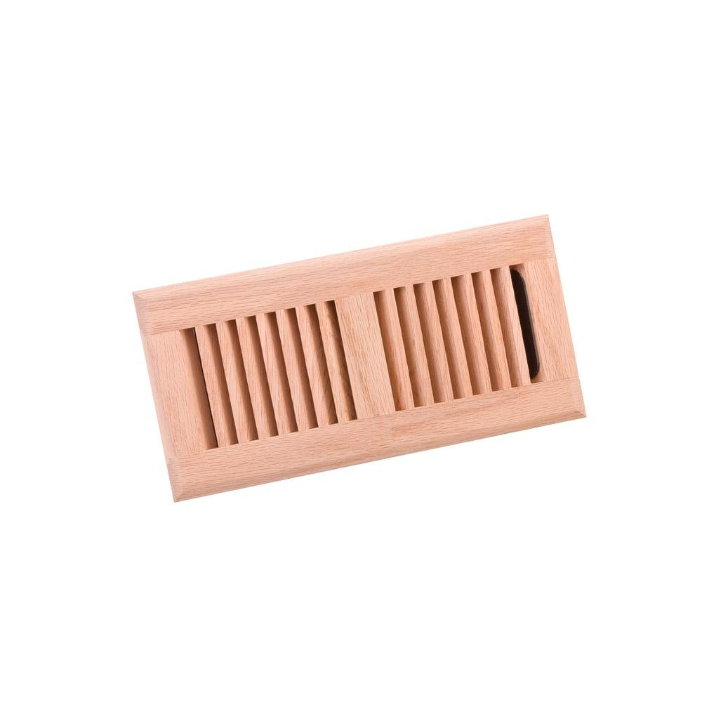 4 in. x 10 in. Wood Red Oak Unfinished Surface Mount