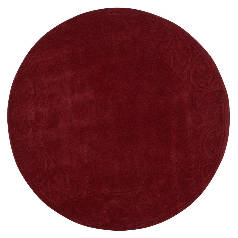 Home Decorators Collection Cyrus Burgundy 7 ft. 9 in. Round Area Rug