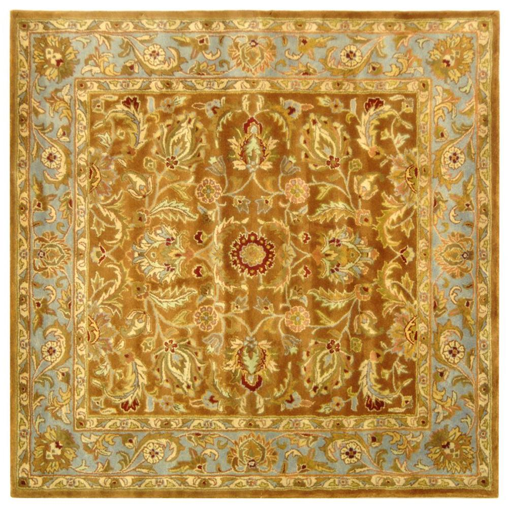 Heritage Brown/Blue 8 ft. x 8 ft. Square Area Rug