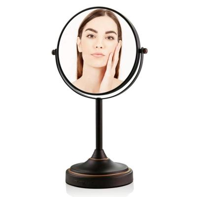 Small Antique Bronze Metal Tilting Glam Mirror (12.8 in. H X 5.3 in. W)