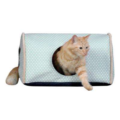 Kitty Camper Small Sage Polka Dot Indoor Cat Shelter